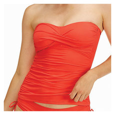 Live In Color Twist Front - Women's Bandeau Tankini Top