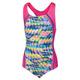 Print Sport Splice - Girls' One-Piece Swimsuit - 0