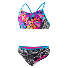 Diamond Geo Splice Jr - Girls' Two-Piece Swimsuit