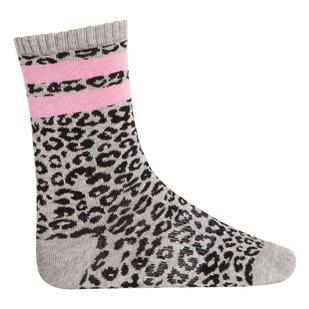 Leopard Jr - Girls' Crew Socks