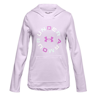 Armour Fleece Graphic WM Jr - Girls' Tarining Hoodie