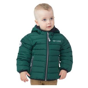 F20M1251 K - Manteau matelassé à capuchon pour petit garçon