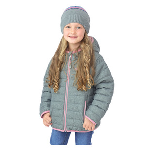 F20M1250 K - Little Girls' Hooded Quilted Jacket