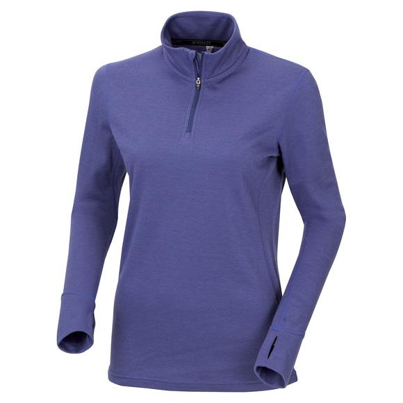 MW3513F16 - Chandail de sous-vêtement à fermeture éclair au col pour femme